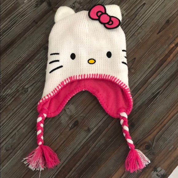 8d133973800 Hello Kitty Other - Hello Kitty Hat Beanie with Braids